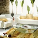 White Designer Modern Contemporary Italian Leather Sofa Set, Modern Design Furniture