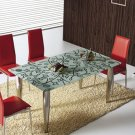 Contemporary Modern Dining Table Funiture Set w/ Tempered Glass by Berg