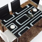 Bergh Glass Modern Contemporary Dining Furniture Table Set,