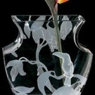 Badash Crystal Beauty of Paradise 8.5 inch Glass Vase Table Centerpiece