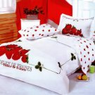 Strawberry 6- piece Queen Size Duvet Bedding Set by Le Vele