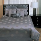 Bubbles Graphite 9 PC Queen Comforter Set by Hallmart Collectibles