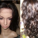 """Curly REMY Half Lace Wig 20"""" Length"""