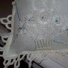 """Basket of Daisies"" Handmade Pillow"