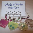 Words of Wisdom Wine Charms Collection