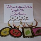 Vintage Dollhouse Portraits Vignette IV Wine Charms