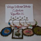 Vintage Dollhouse Portraits Vignette I Wine Charms