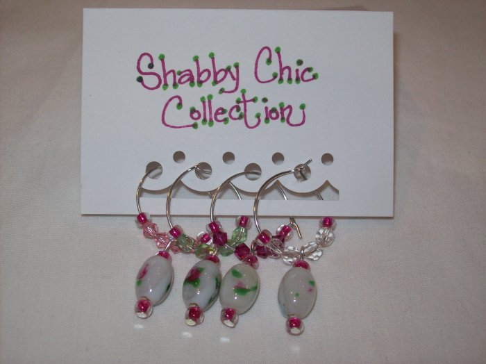 Shabby Chic Wine Charms Collection