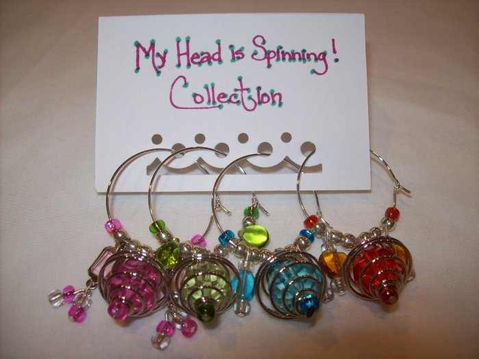 My Head Is Spinning! Wine Charms Collection