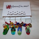 Flip Flop Into Summer Wine Charms Collection
