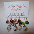 A Jolly, Happy Soul Christmas Wine Charms Collection