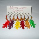 Autumn Leaves Fall Wine Charms Collection