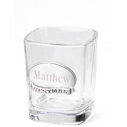 Shot Glass with Pewter Medallion