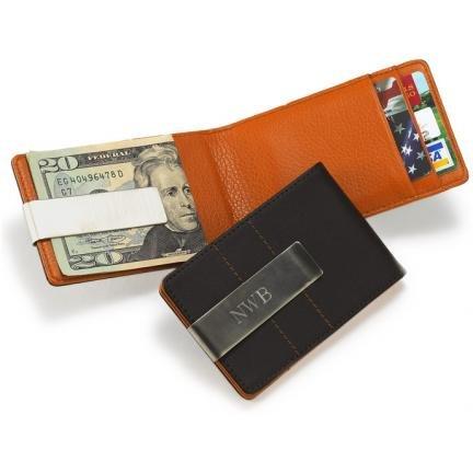 Metro Leather Wallet Money Clip