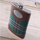 Green Plaid 8oz. Flask