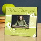 Delicate Daisy Personalized Teacher Picture Frame
