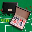 Personalized Playing Card Leather Case