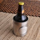 Personalized Brushed Koozie with Pewter Medallion