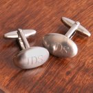 Brushed Oval Cuff Link Set