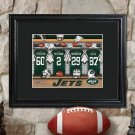 Personalized NFL Locker Print with Matted Wood Frame