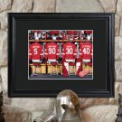 Personalized NHL Locker Room Print in Wood Frame