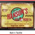 Personalized Traditional Pub Sign Bait N Tackle