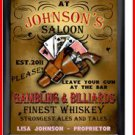 Personalized Traditional Pub Sign Cowgirl Saloon