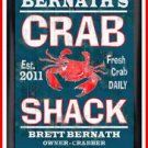 Personalized Traditional Pub Sign Crab Shack