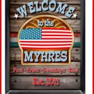 Personalized Traditional Pub Sign Welcome