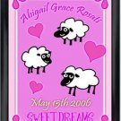 Personalized Childs Room Sign Baby Girl Counting Sheep