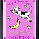 Personalized Childs Room Sign Baby Girl Cow Over the Moon