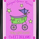 Personalized Childs Room Sign Baby Girl Carriage