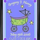 Personalized Childs Room Sign Baby Boy Carriage