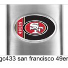 NFL Personalized San Francisco 49ers Flask