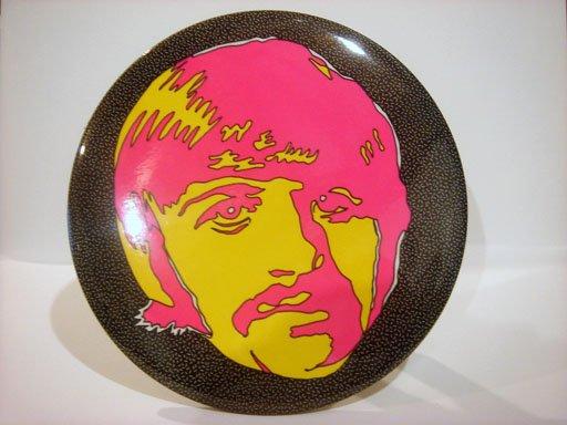 "Beatles 6"" Button Plaque Psychedelic Ringo Starr"