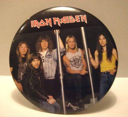 """Iron Maiden 6"""" Button Plaque Band Portrait"""