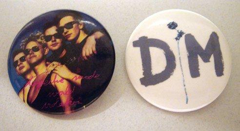 Pair of Depeche Mode Band & Logo Buttons