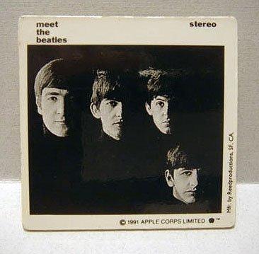 Meet the Beatles Square Pin