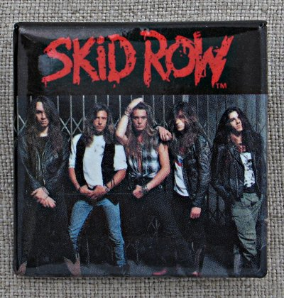 Skid Row Band Portrait Square Pin