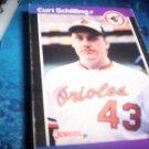 Curt Schilling 1989 Donruss RC Orioles