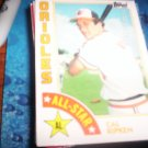 Cal Ripken Jr. 1984 Topps All-Star Orioles
