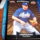 Chipper Jones 2009 Upper Deck Starquest Gold Braves