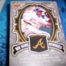 Yunel Escobar 2009 UD Piece of History Box Score Memories Braves