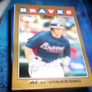 Josh Anderson 2008 Topps Update Gold Braves
