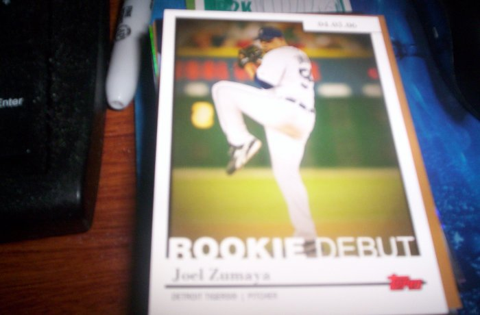 Joel Zumaya 2006 Topps Rookie Debut Tigers