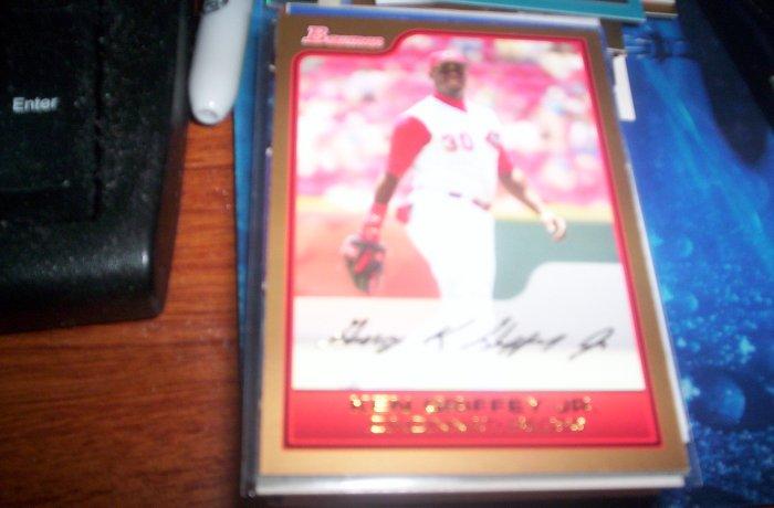 Ken Griffey Jr 2006 Bowman Gold Reds