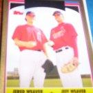 Jered Weaver/Jeff Weaver Dual 2006 Topps Update Gold Angels/Cardinals