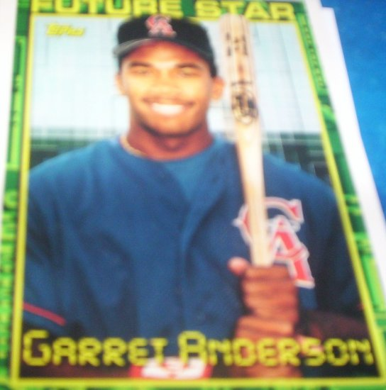 Garret Anderson 1994 Topps Future Star RC Angels