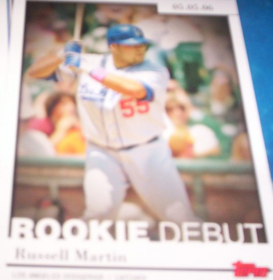 Russell Martin 2006 Topps Rookie Debut Dodgers