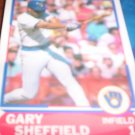 Gary Sheffield 1989 Score Young Superstars Brewers
